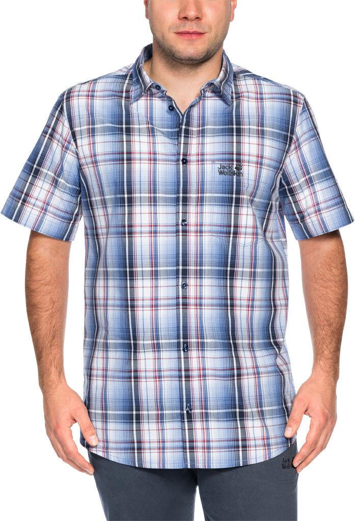 Jack Wolfskin Hot Chili - T-shirt manches courtes Homme - bleu blanc ... 0cdd8687fa2f